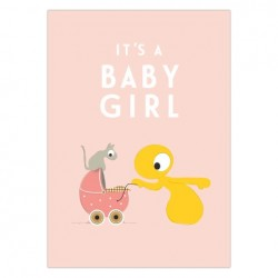 Poster 'Baby girl' (A4)