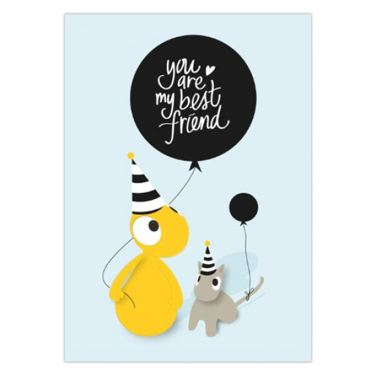 Kaart 'You are my best friend'