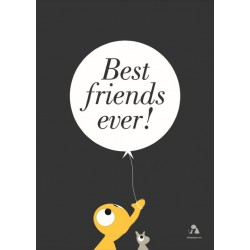 Poster 'Best Friends' - Antraciet (50x70)