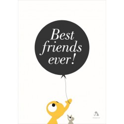 Poster 'Best Friends' - Wit (50x70)