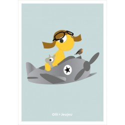 Poster 'Airplane' (30x40)