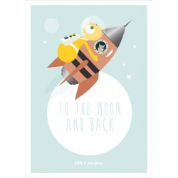 Poster 'To the moon and back' (50x70)