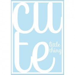 Poster Cute Little Thing - Blauw (A3)