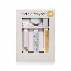 Cutlery set leopard orchid
