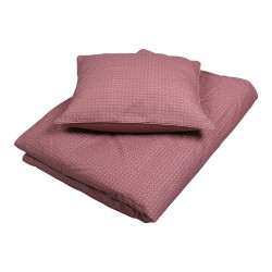Filibabba - Bed Linen 100 x 140cm - Leafed - Dusty Rose - One size