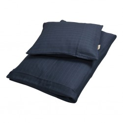 Filibabba - Bed Linen 70 x 100cm - Muslin Dark Blue - One size