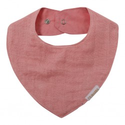 Filibabba - Muslin Bib - Dark Rose - One size