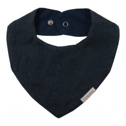 Filibabba - Muslin Bib - Dark blue - One size