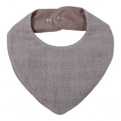 Filibabba - Muslin Bib - Grey - One size