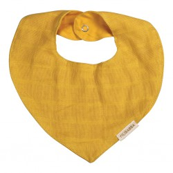 Filibabba - Muslin Bib - Lemon - One size