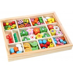 Wooden Beads in a Box
