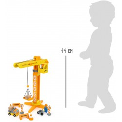 Construction Crane with Construction Site Accessories