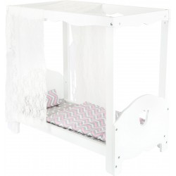 Doll's Canopy Bed, white