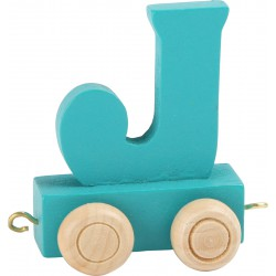 Coloured Letter Train J