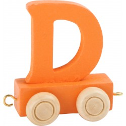 Coloured Letter Train orange D