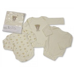 3pcs Long Sleeve Body Vest (size 0-3 mo)