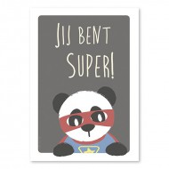 Super Panda 'jij bent super'