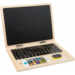 Wooden Laptop with Magnet Board