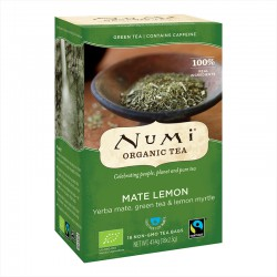 Numi Organic Green Tea Mate Lemon -- 18x2.3g
