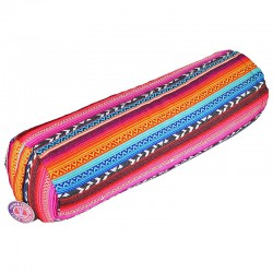 Yoga Bolster tribal bright round -- 60x16 cm
