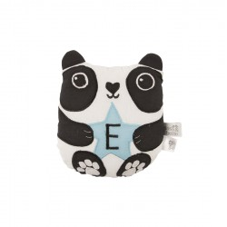 AIKO PANDA LETTER E MINI CUSHION