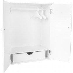 Doll's Wardrobe, white