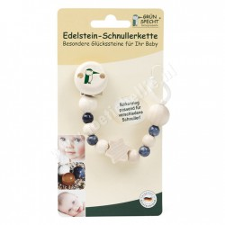 Gemstone pacifier chain, Sodalith