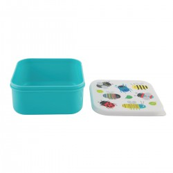 SQUARE BUSY BUGS LUNCH BOX