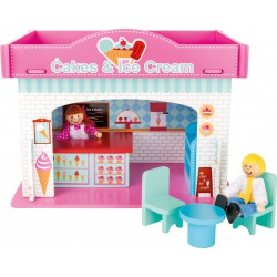 Playhouse Ice Cream Shop with Accessories