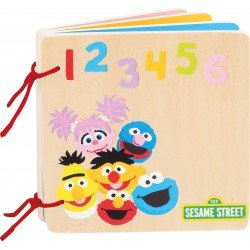 SESAME STREET Numbers & Colours Wooden Book