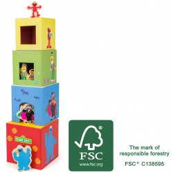 SESAME STREET Stacking Tower with Figurines