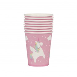 New ProductSET OF 8 RAINBOW UNICORN PAPER CUPS