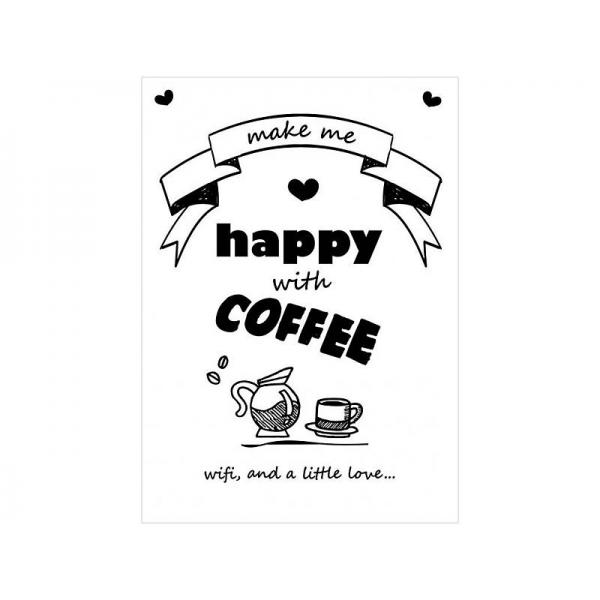Poster coffee wifi and love (A4)