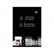 Sparkling Paper postkaart a star is born pink