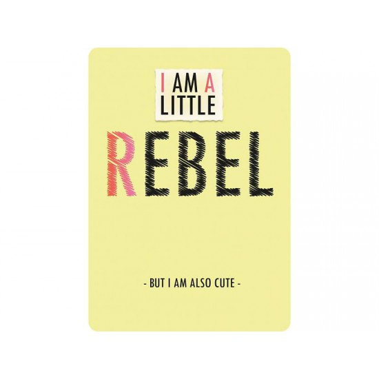 Sparkling Paper postkaart I am a little Rebel