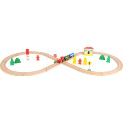 Wooden Toy Train with Train Station