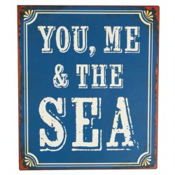 You, Me And The Sea Retro Wall Plaque